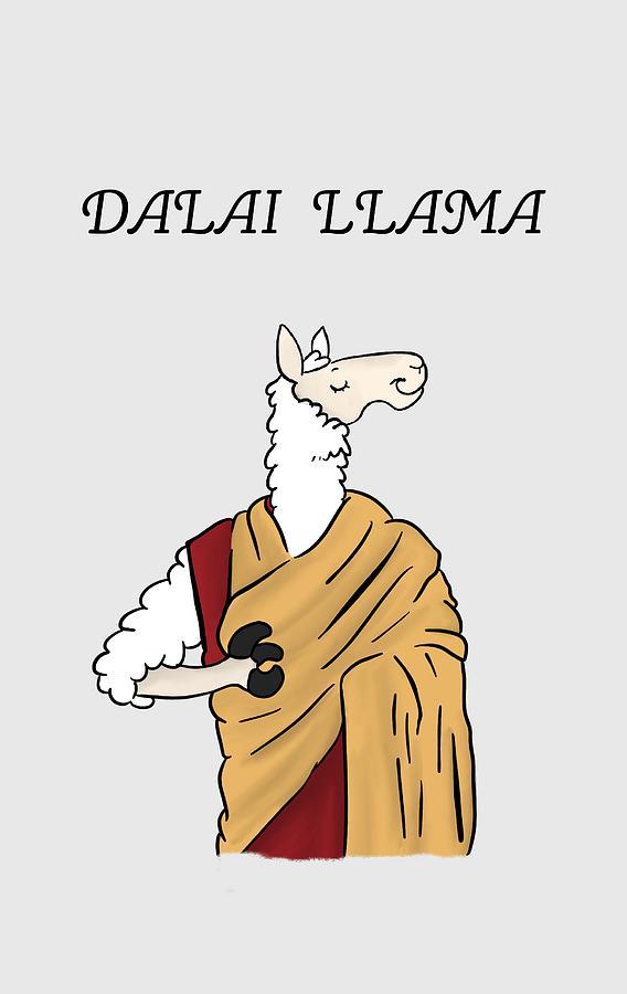 Dalai Lllama meditation yoga zen master by Uwaki Art