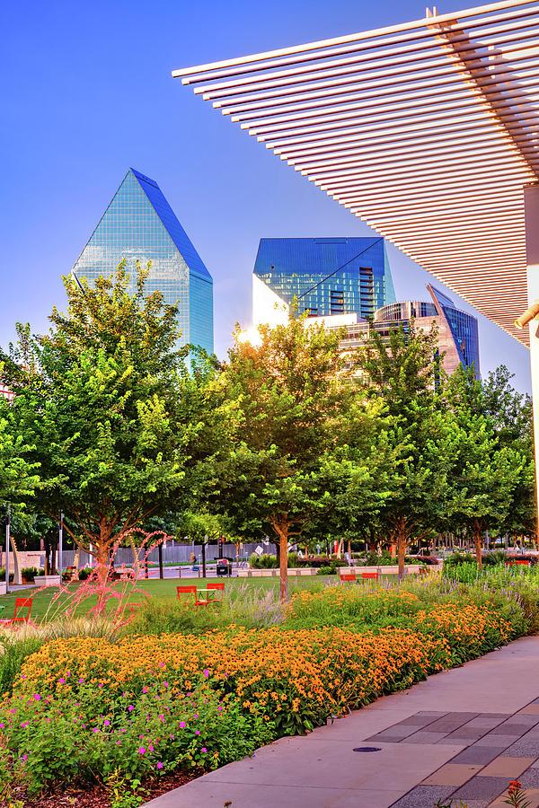 Dallas Texas Skyline From Klyde Warren Park Photograph