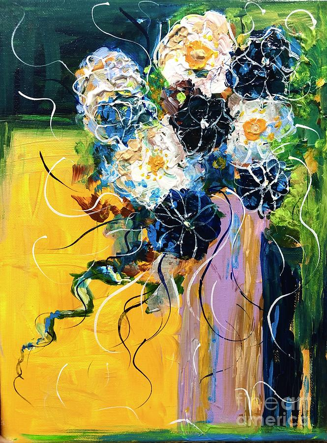 Flowers Painting - Dalliance by Jacqui Hawk