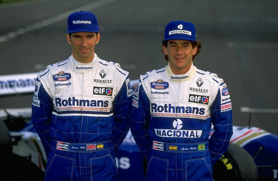 Damon Hill and Ayrton Senna Photograph by Mike Hewitt
