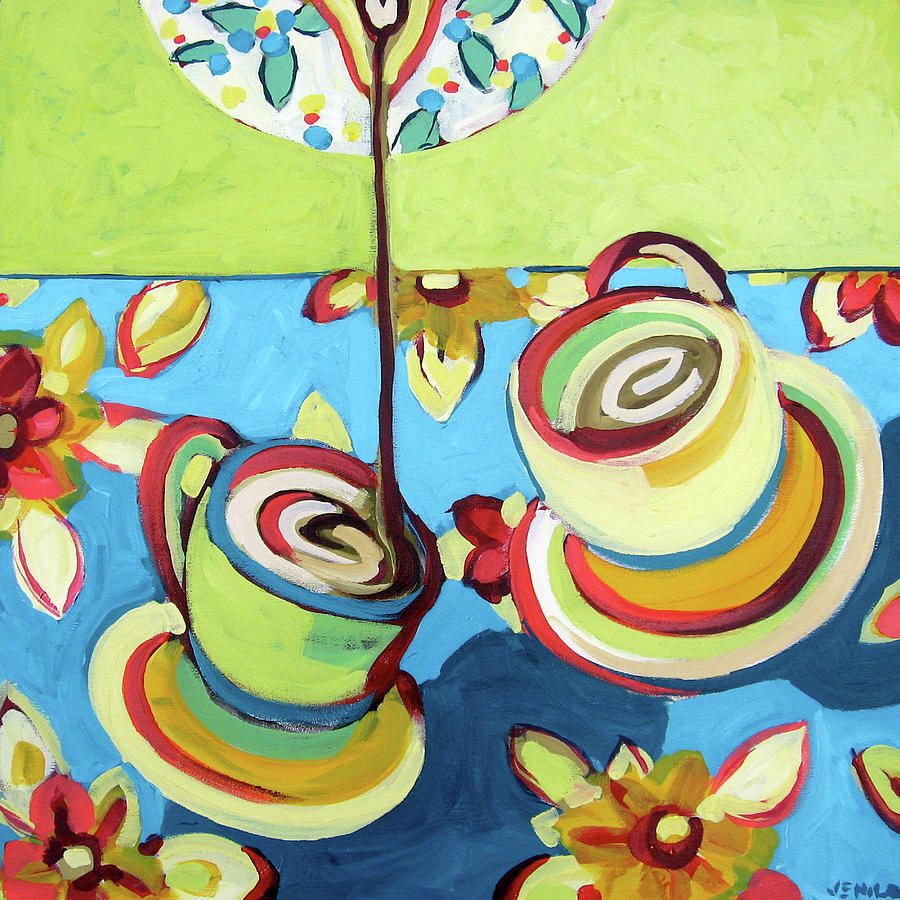 Dance Of The Coffee Refill Painting