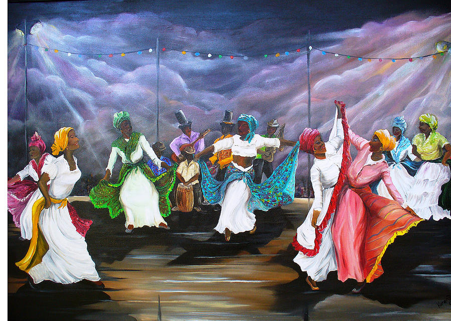 Dance The Pique Painting by Karin  Dawn Kelshall- Best