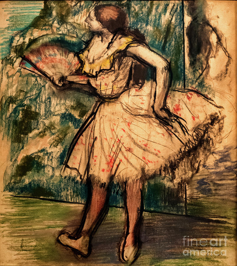 Dancer with a Fan 2 by Degas by Edgar Degas