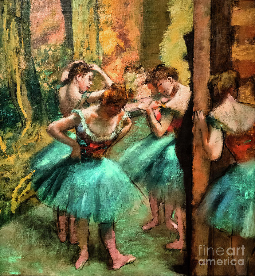 Dancers Pink and Green by Degas by Edgar Degas