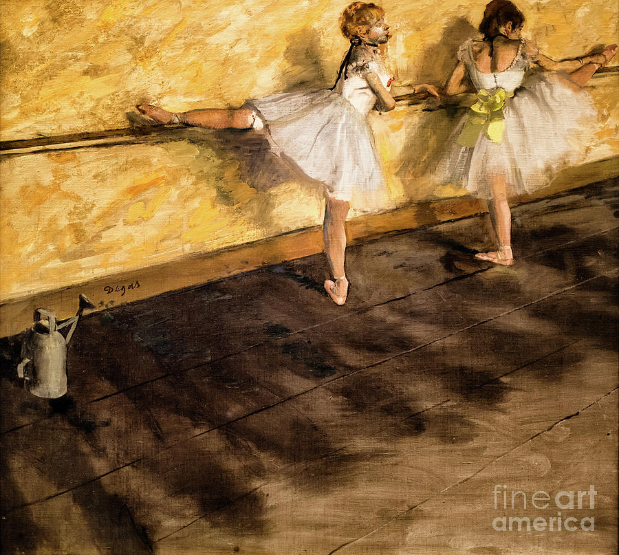 Dancers Practicing at the Barre by Degas by Edgar Degas