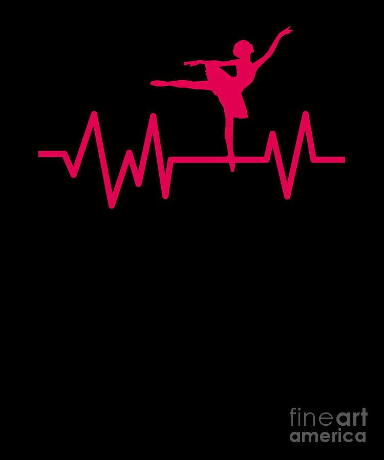 Dancing Dancers Ballerina Music Ballet Heartbeat Dance Music Gift Digital  Art by Thomas Larch