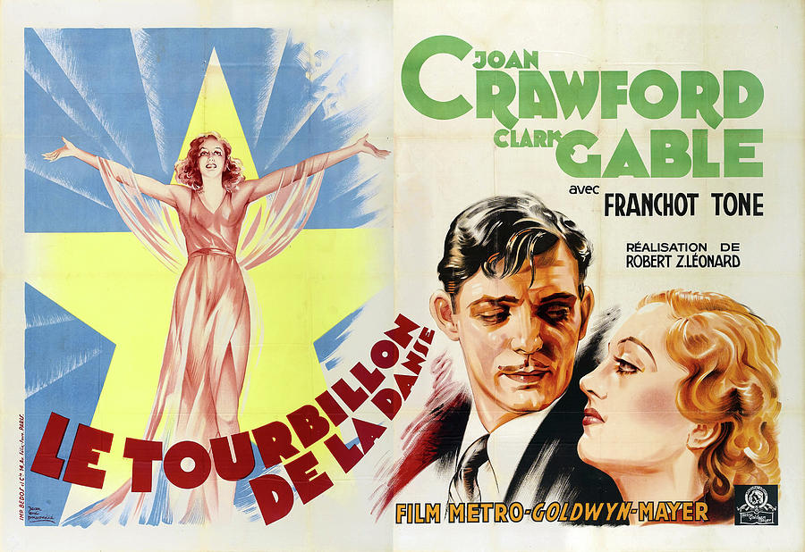 dancing Lady, With Joan Crawford And Clark Gable, 1933 Mixed Media