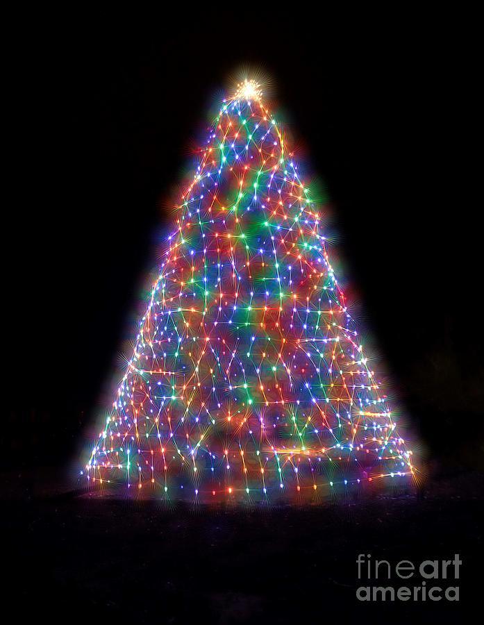 Dancing Lights On A Christmas Tree by Karen Silvestri