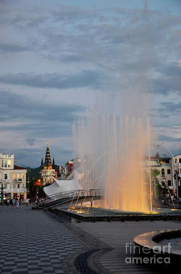 Dancing music and laser light musical water fountains New Boulevard Batumi Georgia by Imran Ahmed