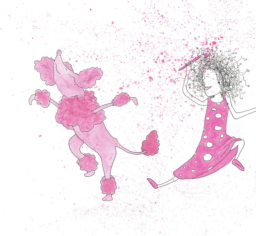 Dancing Pink Poodle by Mike Mooney