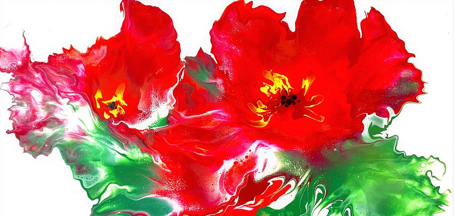 Dancing Red Poppies Painting