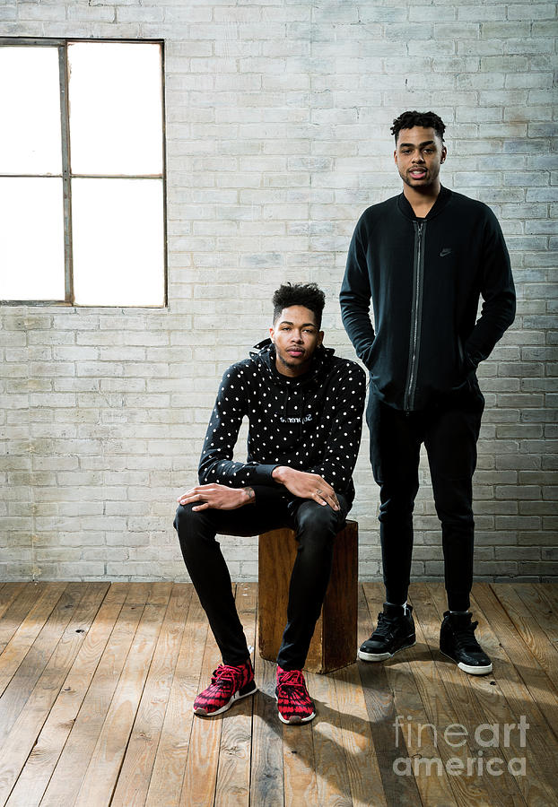 Dangelo Russell and Brandon Ingram Photograph by Nathaniel S. Butler
