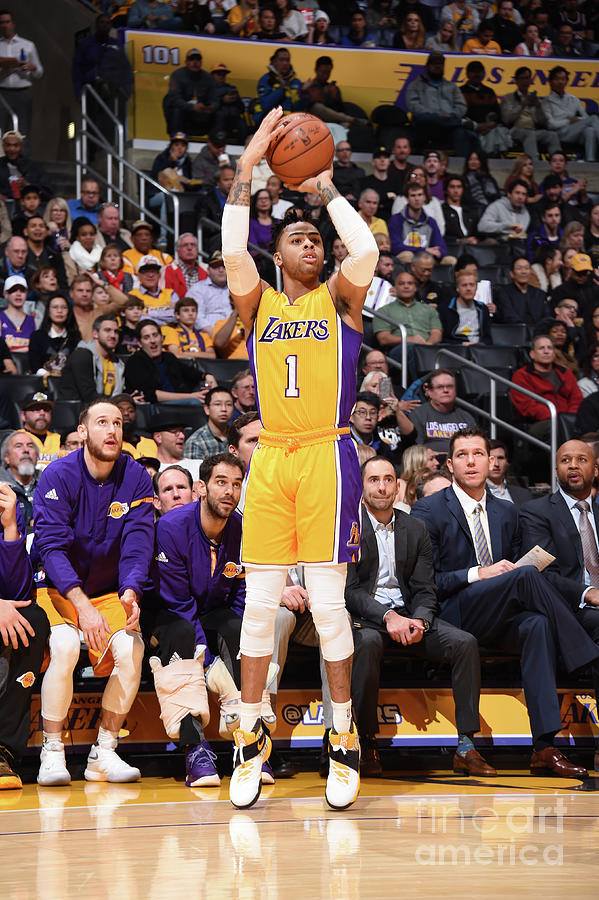 Dangelo Russell Photograph by Andrew D. Bernstein