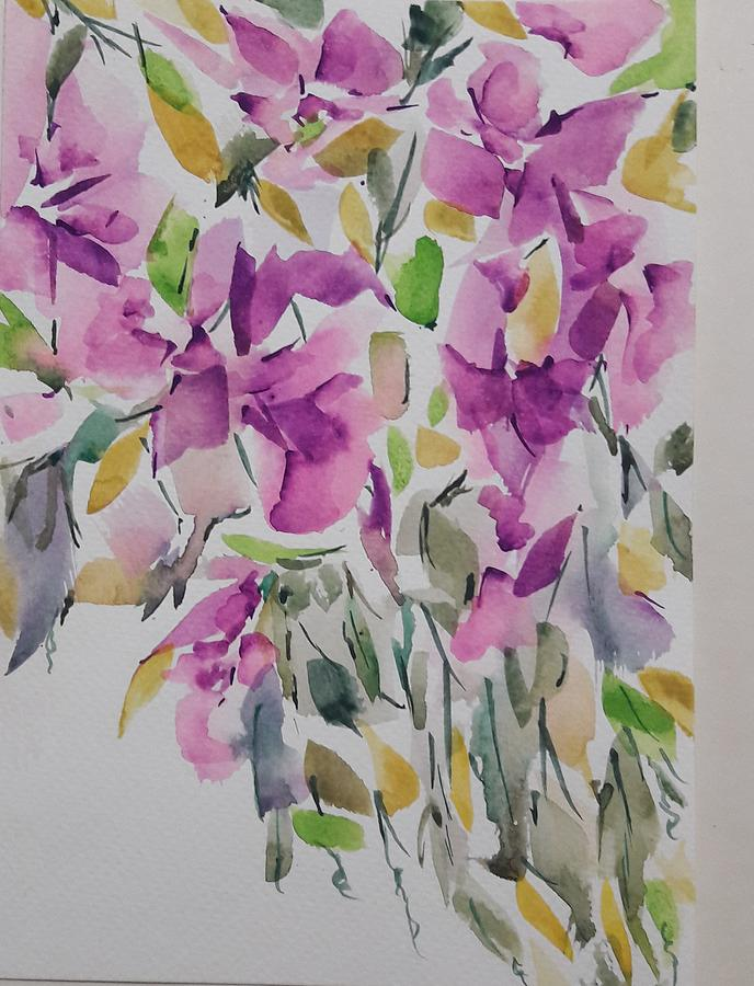 Floral Painting - Danglers by Nazneen Imran
