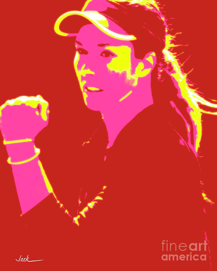 Tennis Painting - Danielle Collins by Jack Bunds