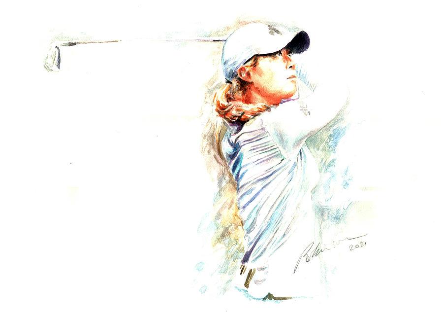 Danielle Kang LPGA Tour Painting by Mark Robinson