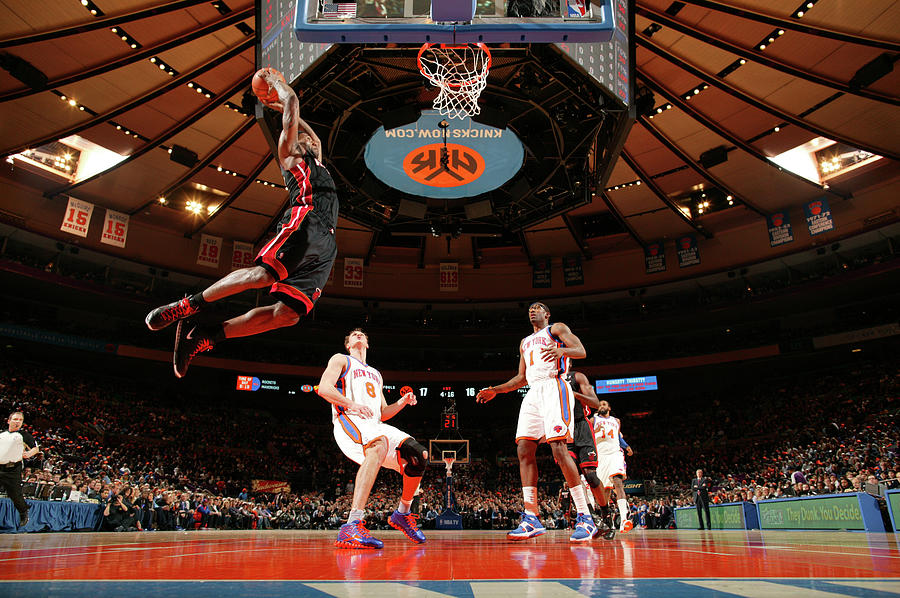 Danilo Gallinari, Amare Stoudemire, and Lebron James Photograph by Nathaniel S. Butler