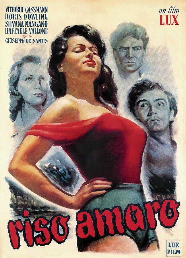 dante Manno, Riso Amaro, With Vittorio Gassman, 1948 Mixed Media