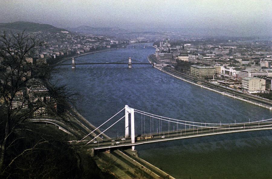 Danube River Budapest 1968 by Lee Santa