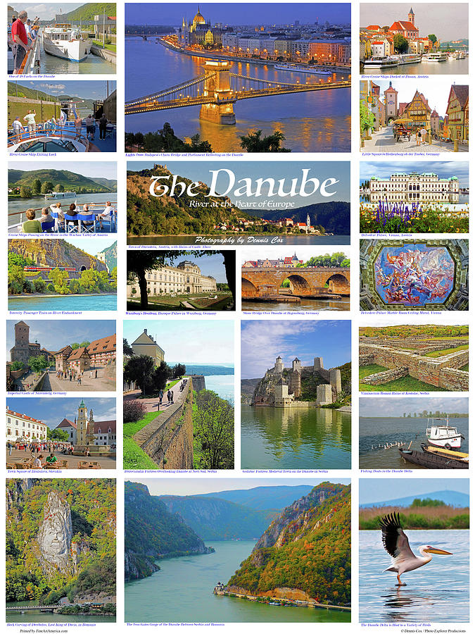 Danube River Travel Poster Photograph