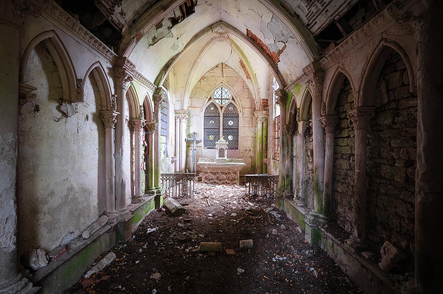 Dark and Abandoned Chapel by Roman Robroek