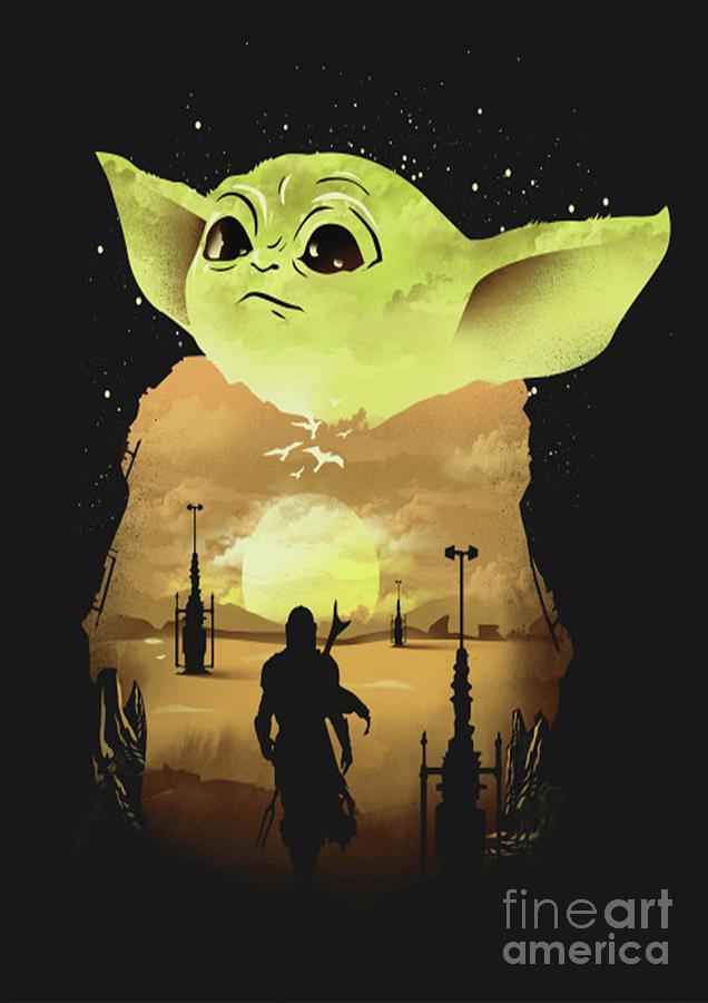 Star Wars Digital Art - Dark Baby Yoda  by Trindira A