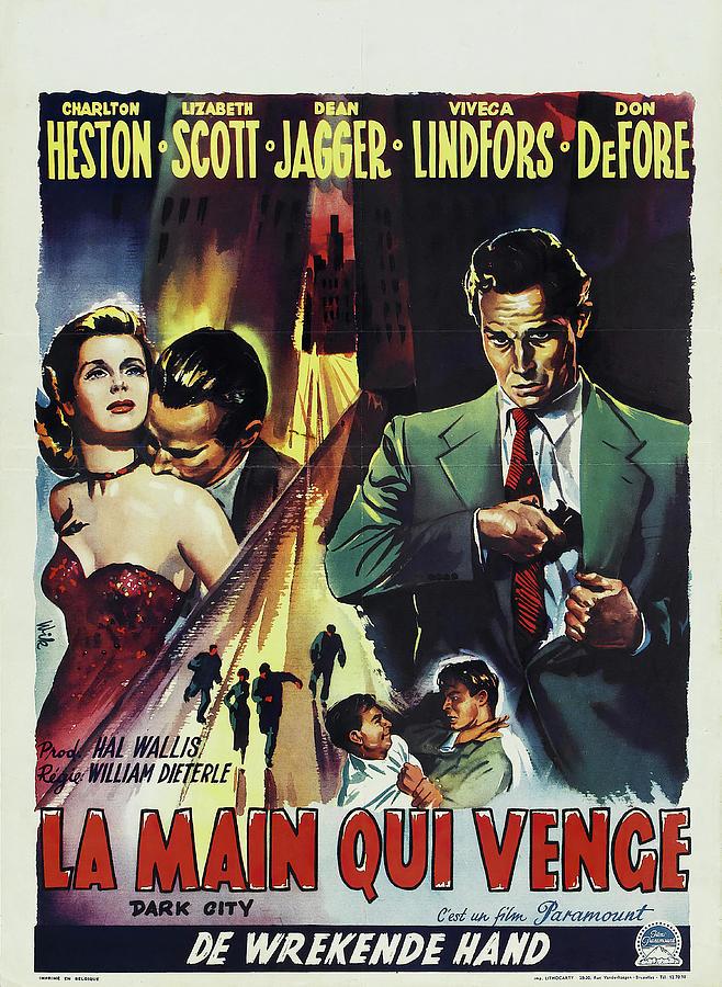 dark City, With Charlton Heston, 1950 Mixed Media