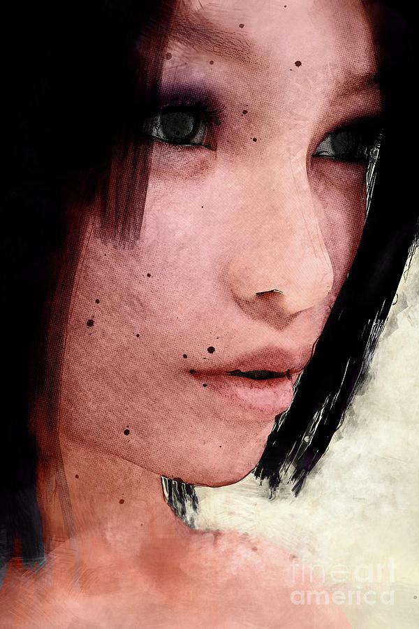 Dark Haired Woman by Clayton Bastiani
