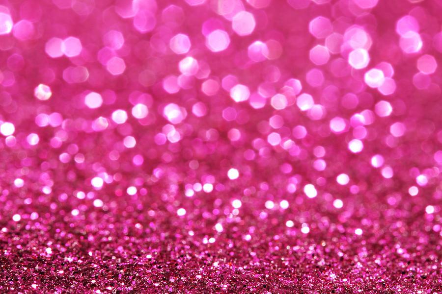 Dark Pink Festive Elegant Abstract Background Soft Lights Glitters Sparkle Background Photograph