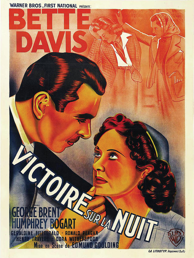dark Victory, With Bette Davis And George Brent, 1939 Mixed Media