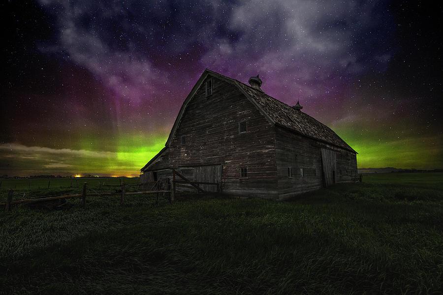 Aurora Borealis Photograph - Darkness Succumbs by Aaron J Groen