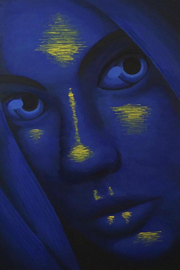Portrait Painting - Darkwater by Zephyr Salz