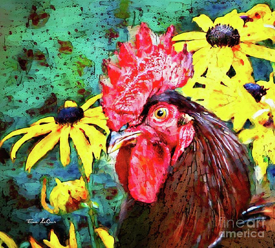 Dashing Rooster Digital Art