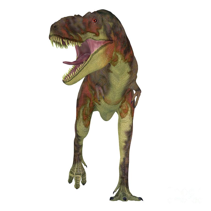 Daspletosaurus Dinosaur On White Digital Art