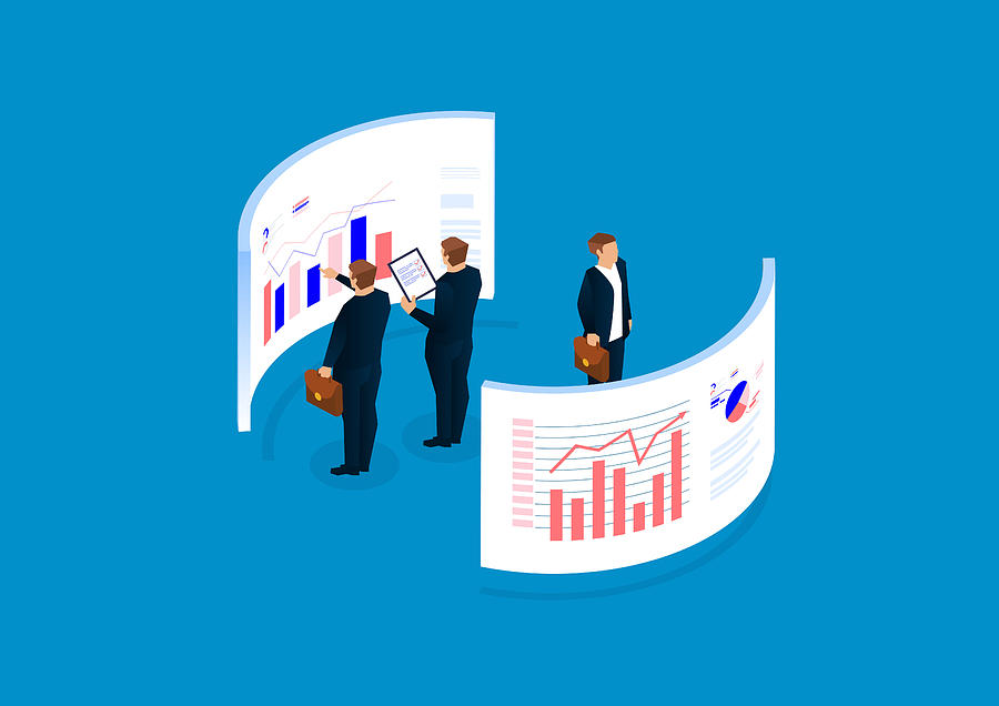 Data statistics and analysis, financial management, data visualization Drawing by Sesame