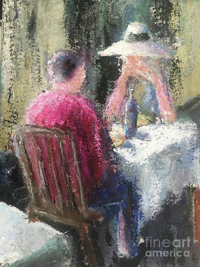 Man And Woman Painting - Date Night by Mark Macko
