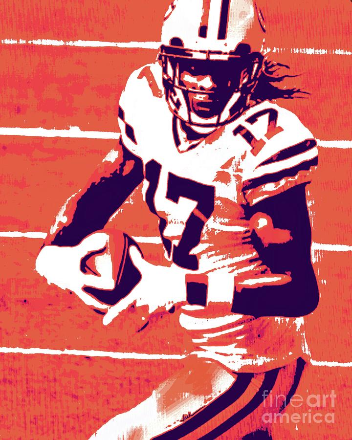Green Bay Painting - Davante Adams by Jack Bunds