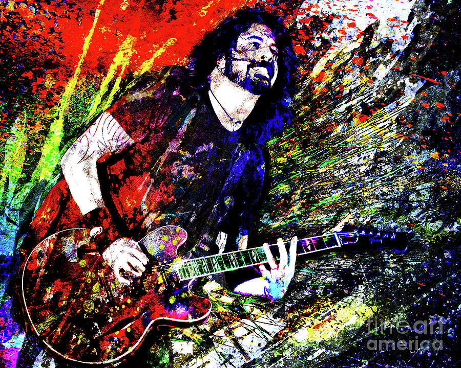 Dave Grohl Mixed Media - Dave Grohl Art  by Ryan Rock Artist