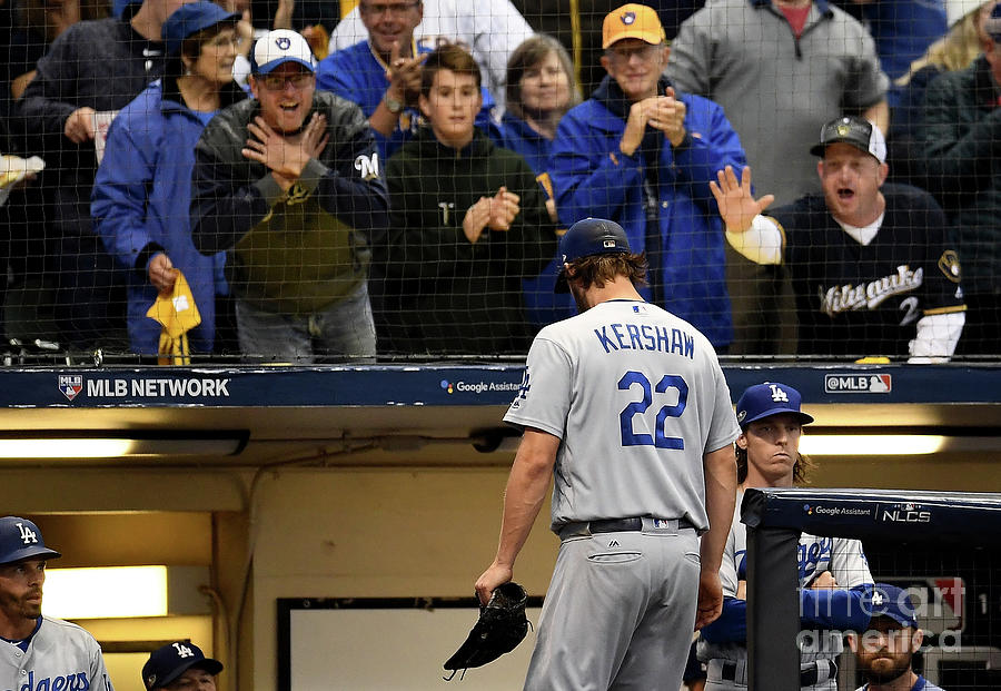 Dave Roberts And Clayton Kershaw Photograph by Stacy Revere