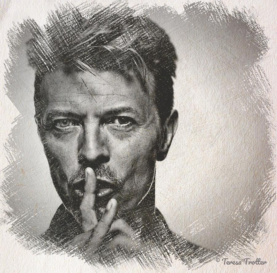 David Bowie Sketch Drawing