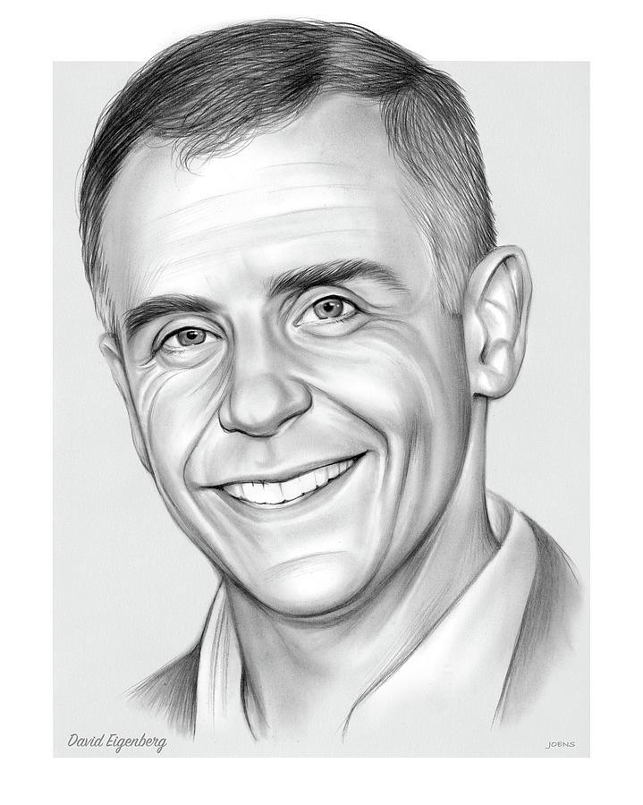 American Drawing - David Eigenberg - pencil by Greg Joens