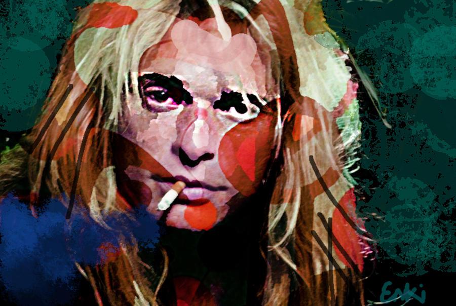 David Lee Roth portrait new  by Enki Art