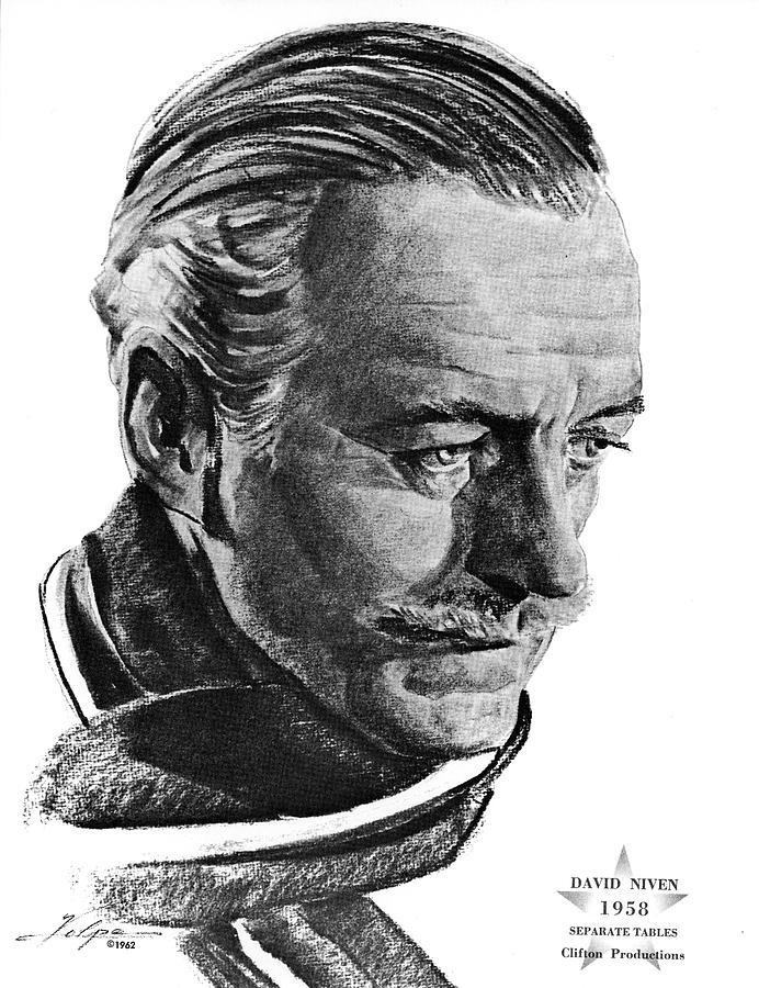 David Niven By Volpe Drawing