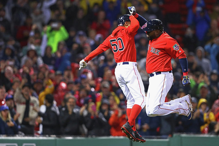 David Ortiz and Mookie Betts Photograph by Maddie Meyer