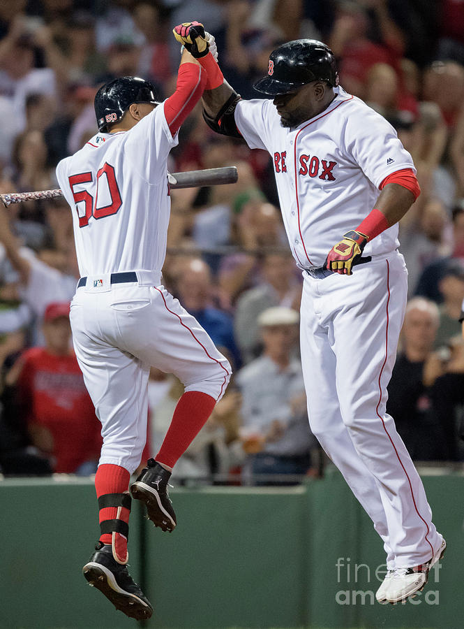 David Ortiz and Mookie Betts Photograph by Michael Ivins/boston Red Sox