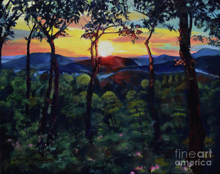 Davids Sunset - Ellijay - North Ga Mountains by Jan Dappen