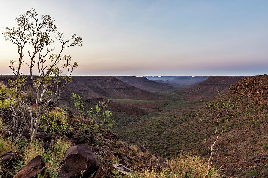 Dawn at Klip River Valley in Namibia by Belinda Greb