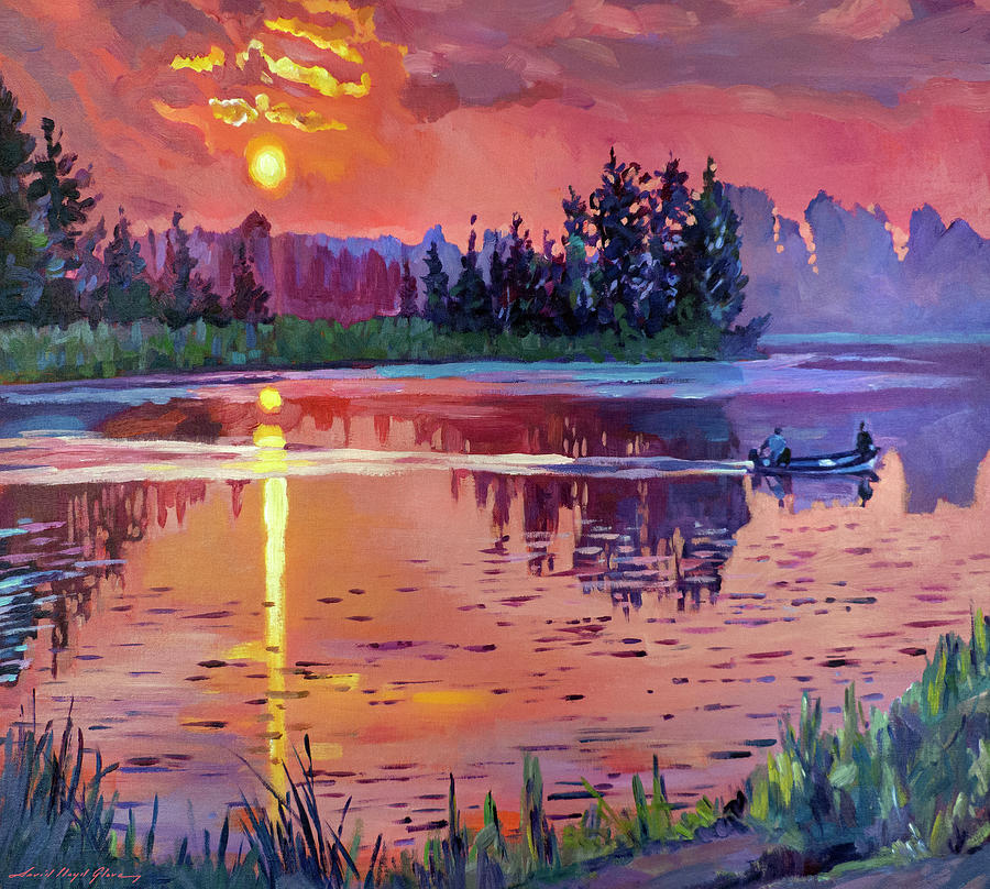 Dawn At Trout Lake Painting