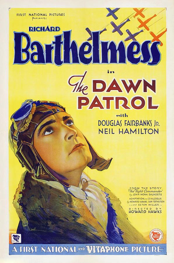 dawn Patrol, With Richard Barthelmess, 1930 Mixed Media