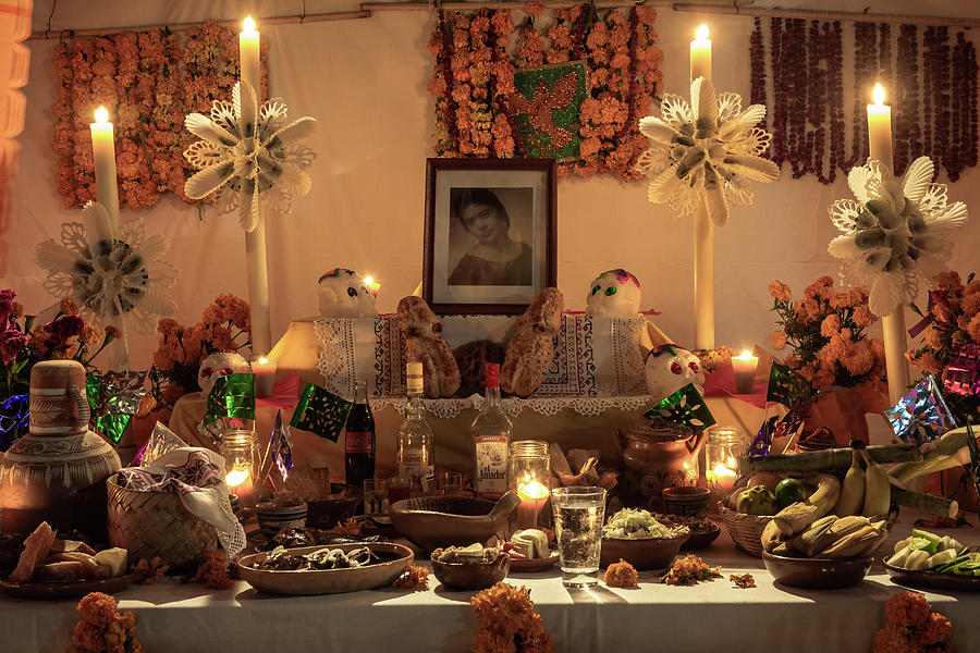 Day Of The Dead Photograph - Day of the Dead Altar in Mexico by Dane Strom